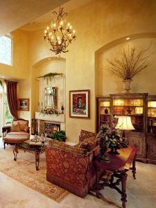tuscan living room, living room, tuscan style