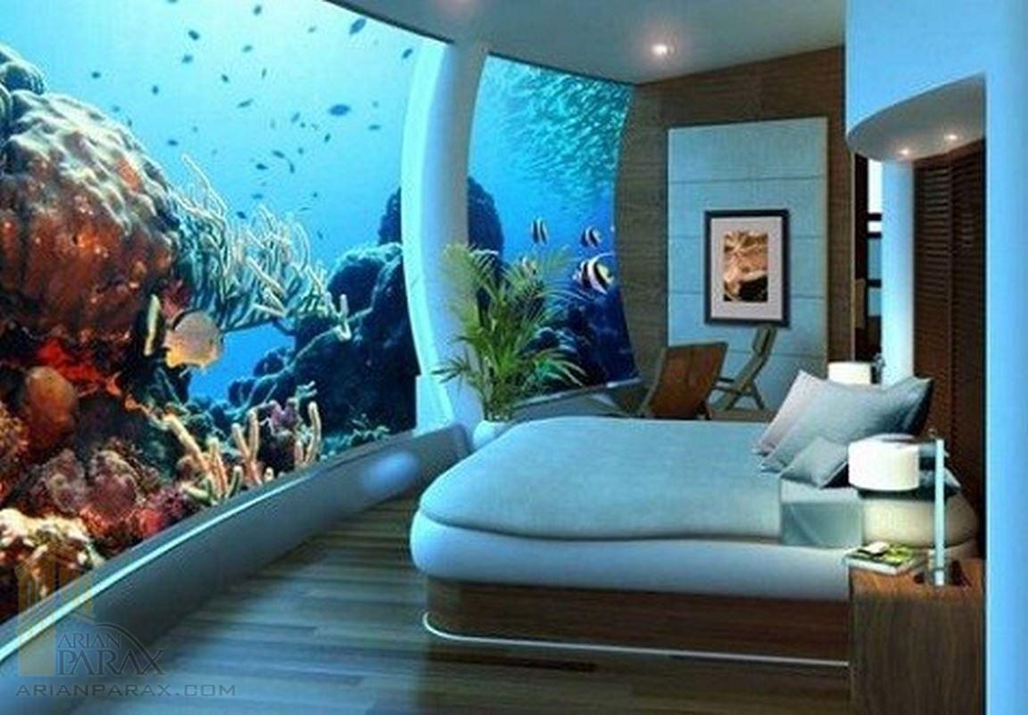 اتاق خواب آکواریومی