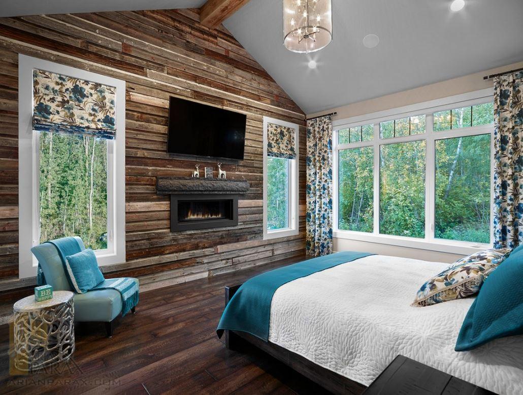 طراحی دکوراسیون اتاق خواب با چوب