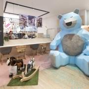طراحی دکوراسیون داخلی فروشگاه لباس کودک