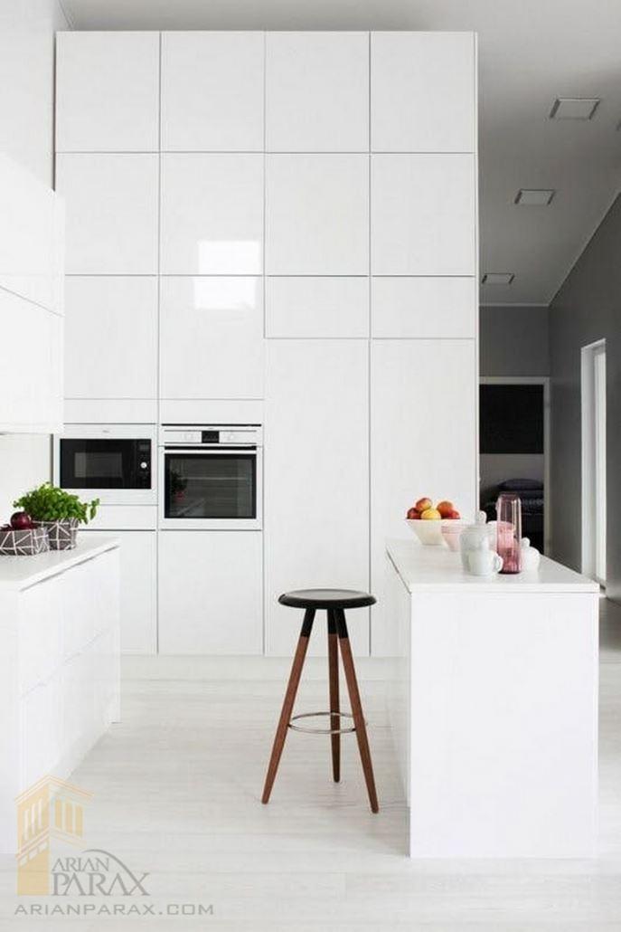 آشپزخانه با رنگ سفید