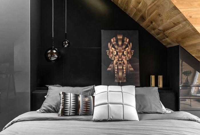 دیزاین اتاق خواب با چوب