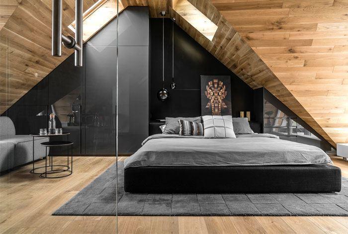 طراحی اتاق خواب با چوب
