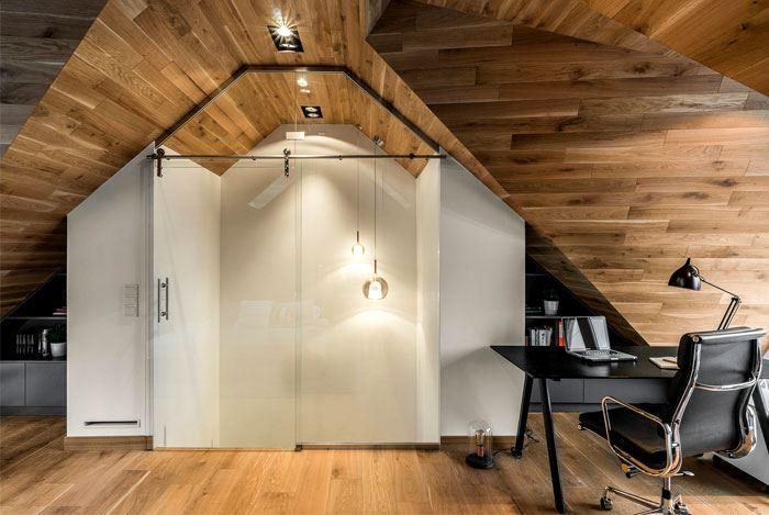 اتاق خواب با چوب