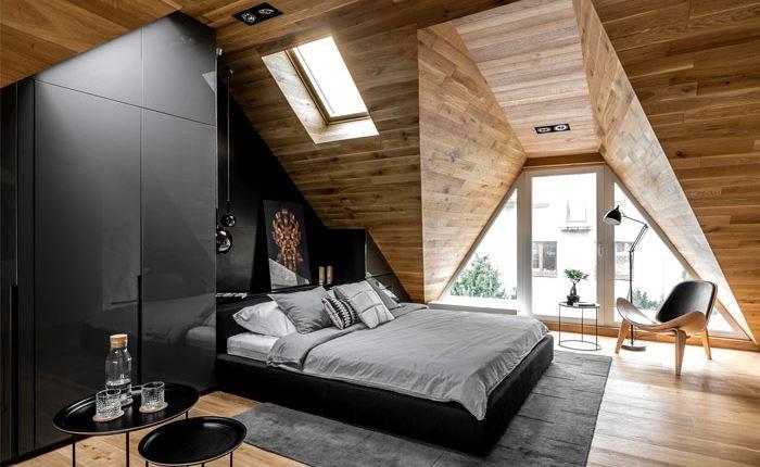 دکوراسیون اتاق خواب با چوب