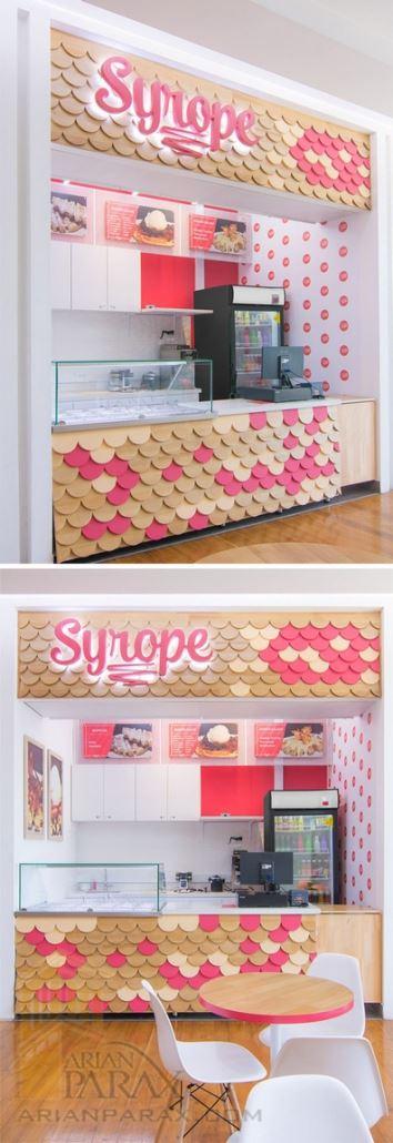 دکور مغازه بستنی فروشی