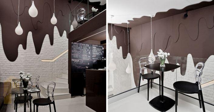 دکور مغازه شکلات فروشی