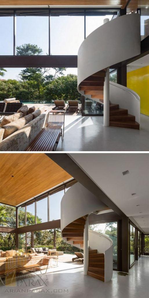 پله های شیک و مدرن