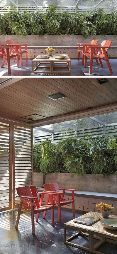 طرح دکور چوبی منزل