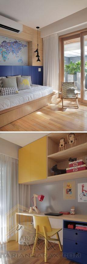 طراحی دکوراسیون خانه با چوب