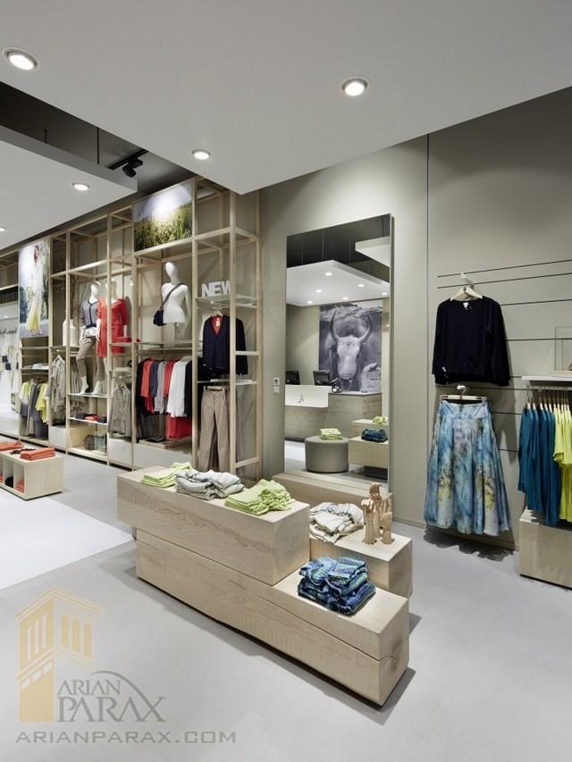 طرح مغازه لباس فروشی