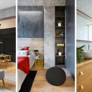طراحی دکوراسیون منزل با بتن و چوب