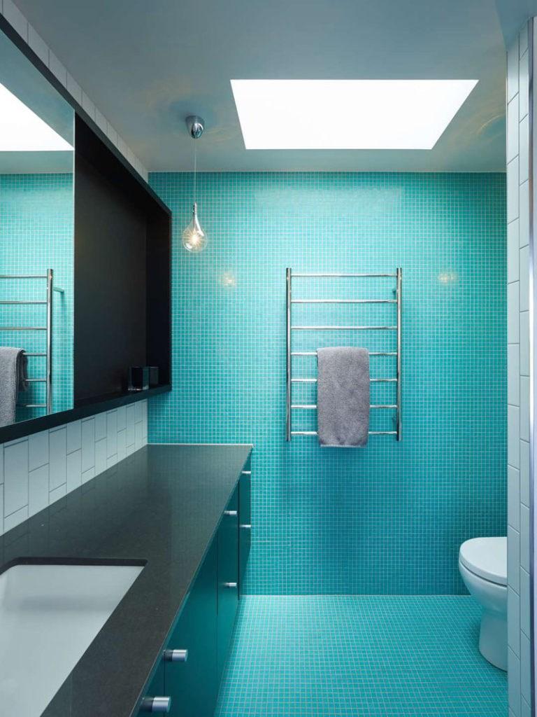 کاشی حمام و سرویس رنگ آبی