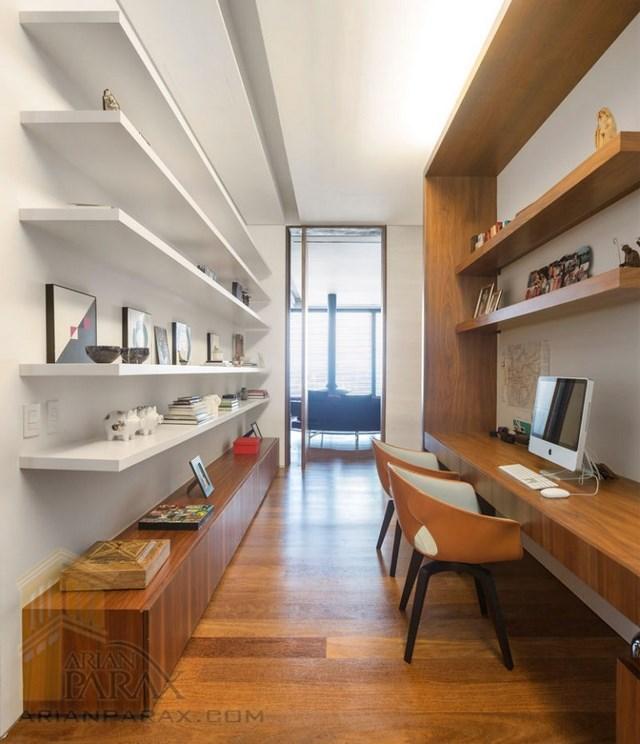 طراحی داخلی دفتر کار در خانه