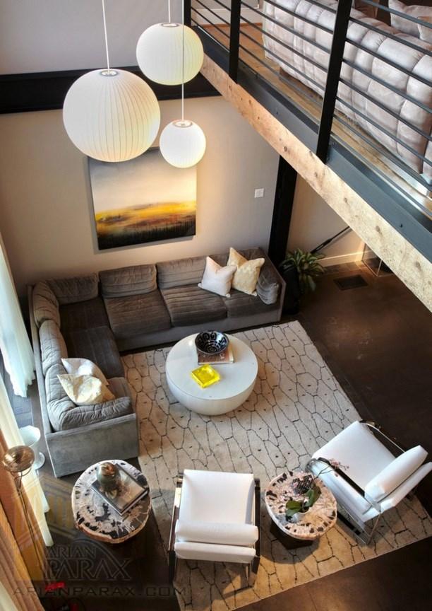 طراحی اتاق پذیرایی به سبک مدرن