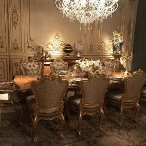 طراحی اتاق غذاخوری لوکس به سبک باروک