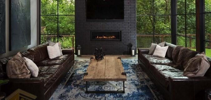 طراحی خانه مدرن با رنگ های تیره