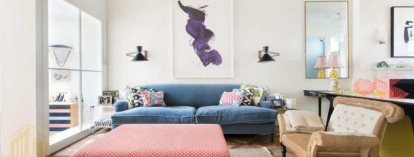 طراحی دکوراسیون خانه با رنگ های متنوع