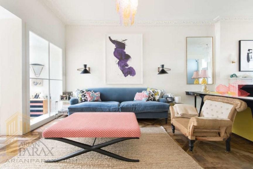 دیزاین خانه با رنگ های متنوع