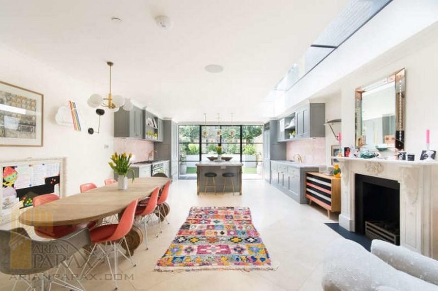 طراحی خانه با رنگ های متنوع