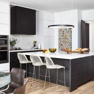 کابینت آشپزخانه سفید مشکی