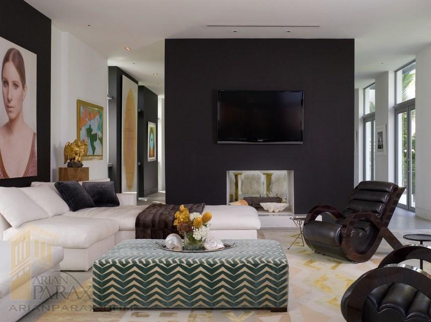 طراحی داخلی خانه با رنگ مشکی