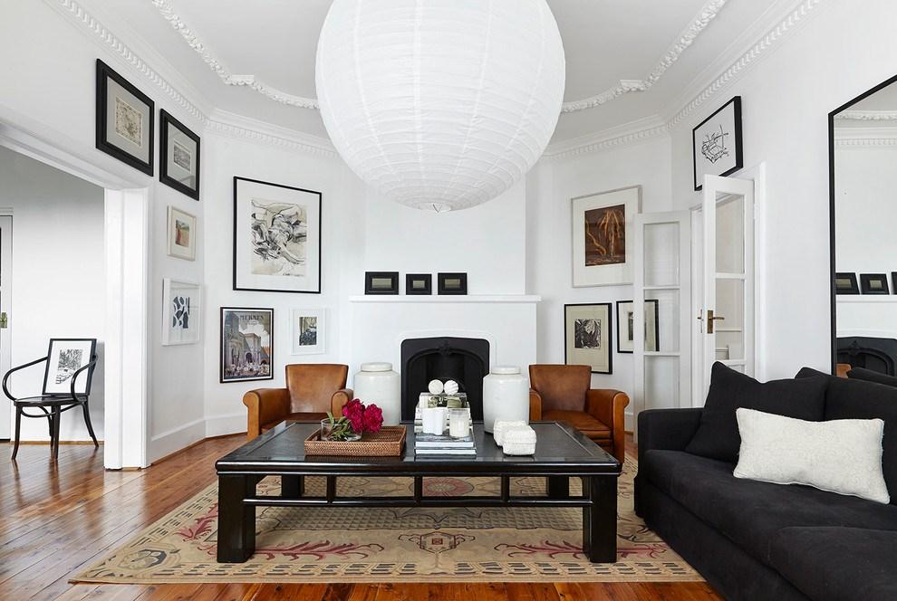 رنگ مناسب برای اتاق نشیمن سفید