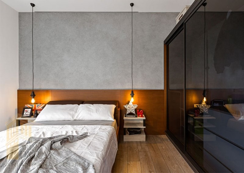 طراحی داخلی آپارتمان با بتن