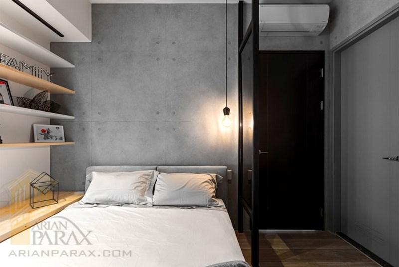 دکوراسیون داخلی اتاق خواب با بتن