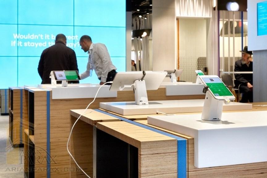 طراحی داخلی فروشگاه موبایل فروشی