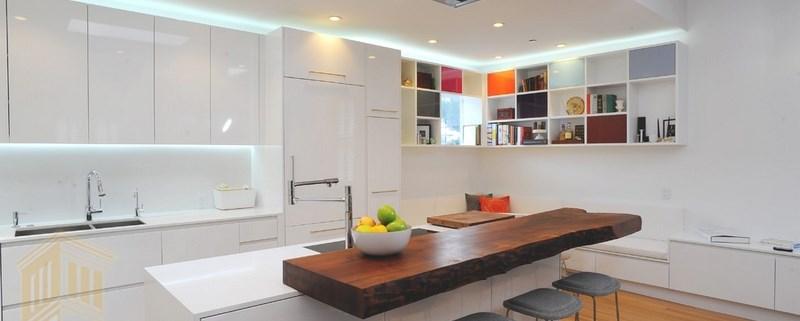 طراحی آشپزخانه با رنگ سفید