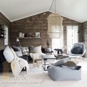 طراحی دکوراسیون اتاق نشیمن با چوب