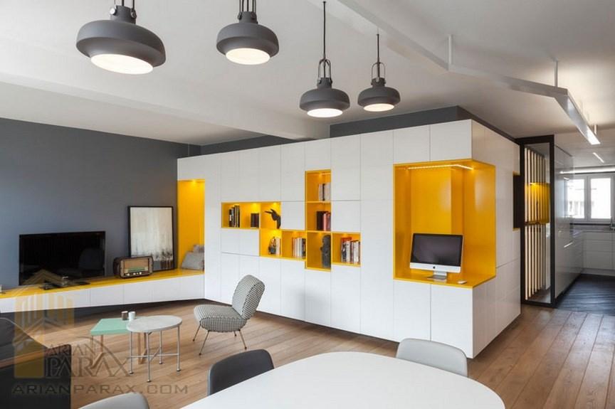 دکوراسیون منزل با رنگ های زرد و طوسی دکوراسیون منزل با رنگ ...